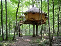 Unusual holiday accommodation near Rouen in Normandy, France.