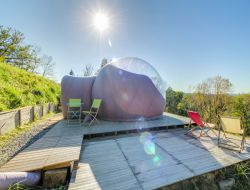 Séjour insolite en bulle tranparente dans les Pyrénées