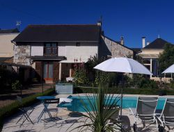 Holiday home with pool near Saumur in France
