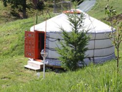 Unusual stay in a yurt near Lyon in France.
