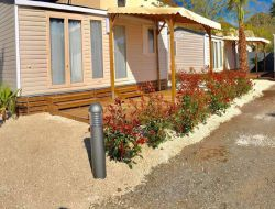 campsite mobilhome in Agde, south of France near Pomérols