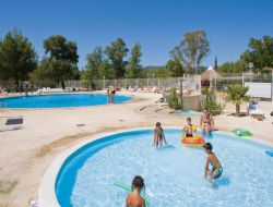 Campsite mobil-homes in Provence, France. near Mallemort