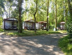 campsite mobil-homes in Ariege, Pyrenees. near Montmaur