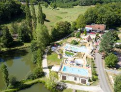Campsite close to Lascaux cave in Aquitaine, France. near Salignac Eyvigues