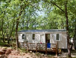 Holiday rentals on a camping in Provence, France.