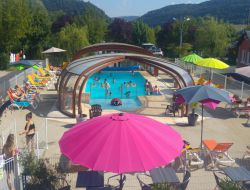 camping mobilhomes near millau in Aveyron, Midi Pyrenees.