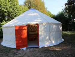 Unusual stay in a yurt close to La Rochelle in France. near Puyravault
