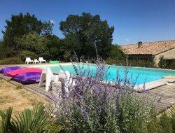 Gites avec piscine au sel dans le Gard.