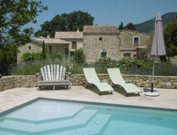 Cottages with swimming pool in the Drome, France. near Manas