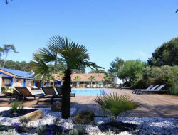 camping en bord de mer dans les Landes.