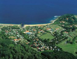 Seaside camping on the Basque coast. near Sare