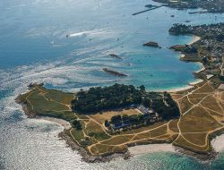 Holiday village on Brittany island, France. near Mespaul