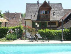 Gite avec piscine et jacuzzi en Alsace.