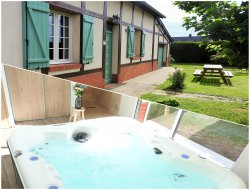 Holiday accommodation with spa in Normandy; France.