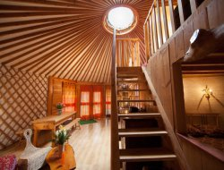 Unusual stay in yurt in Auvergne, France. near Aurillac