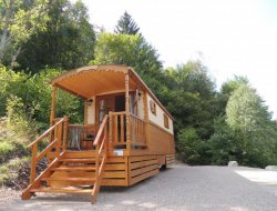 Stay n a gypsy caravan in the Vosges, France.