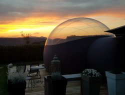 Unusual stay in transparent bubbles, French Alps.