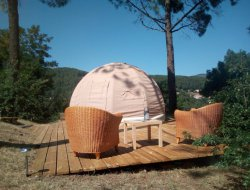 Unusual accommodation in Ardeche, France. near Saint Julien Labrousse
