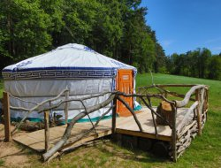 unusual holidays in Yurt in Ardeche, Rhone Alps. near Saint Julien Labrousse
