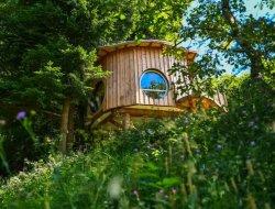 Location de cabanes perchées en Alsace.