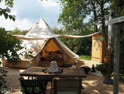 Unusual holiday accommodation near Bordeaux, Aquitaine. near Saint Aignan Gironde