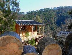 Séjour en cabane perchée dans le Gard.