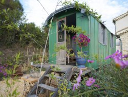 Stay in a gypsy caravan in the Gard, Languedoc Roussillon near Uzes