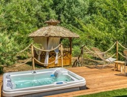 Bubble with jacuzzi in Provence, France.