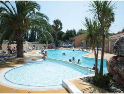 Seaside campsite in the Pyrenees Orientales, France.