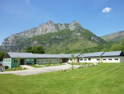 Holiday village near Ax les Thermes, French Pyrenees montains.