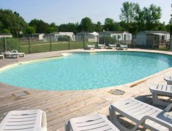 campsite mobilhome in Poitou Charentes, France.  near Haimps