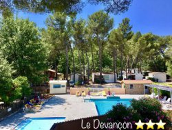 campsite mobilhomes in Provence near Auriol
