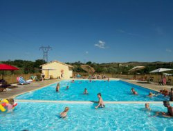 campsite mobilhome in Ardeche, France. near Saint Maurice d'Ibie