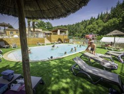 Camping in Ardeche, France. near Saint Julien Labrousse