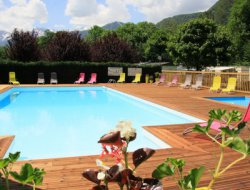 campsite mobilhome in French Pyrenees. near Vignec