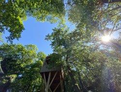 Séjour insolite en cabane perchée près de Lyon 69.