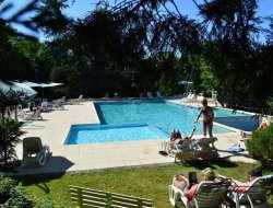 Campsite mobilhomes in the Lot, Midi Pyrenees.