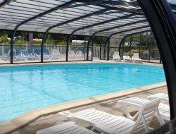 camping avec piscine couverte et chauffée Maine et Loire.