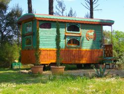 Holidays in a gypsy caravan in the Provence.