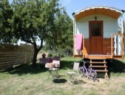 Holiday cottages and gypsy caravan close to Carnac
