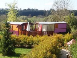 Unusual holidays in gypsy caravan in France near Menetrux en Joux