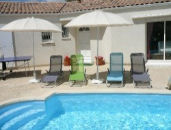 Self-catering house with pool in Charente Maritime. near Saint Just Luzac