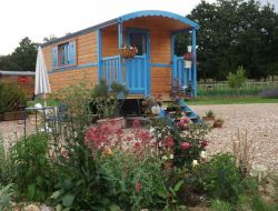 Gypsy caravans for holidays in Loire Valley.
