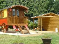 Unusual holidays in Gypsy caravans in France near Locoal Mendon