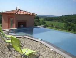 Air-conditioned cottage with pool in south of France near Fozieres