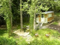 Stay in a gypsy caravan in Normandy