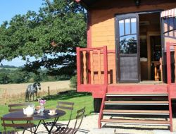 Stay in a gypsy caravan in Brittany. near Saint Yvi