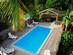 Holiday accommodation on the Guadeloupe island, Caribbean sea.