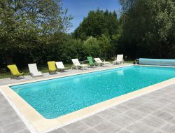 Holiday cottage with pool in Loir et Cher near Dame Marie les Bois