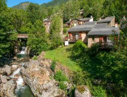 Holiday village in the French Pyrenees near Oust